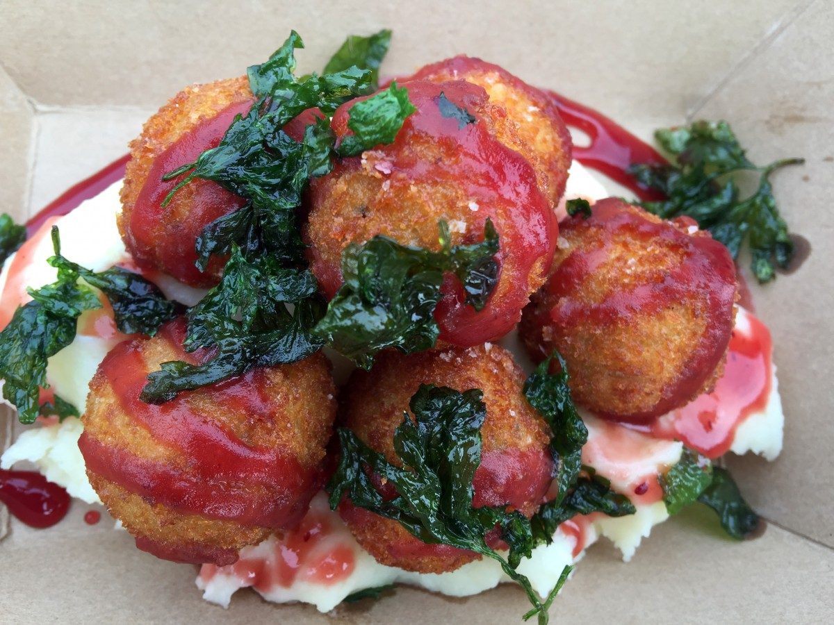 Holiday Feast croquettes from the Croques and Toques food truck in Santa Rosa, California. Photo: Heather Irwin/Press Democrat.