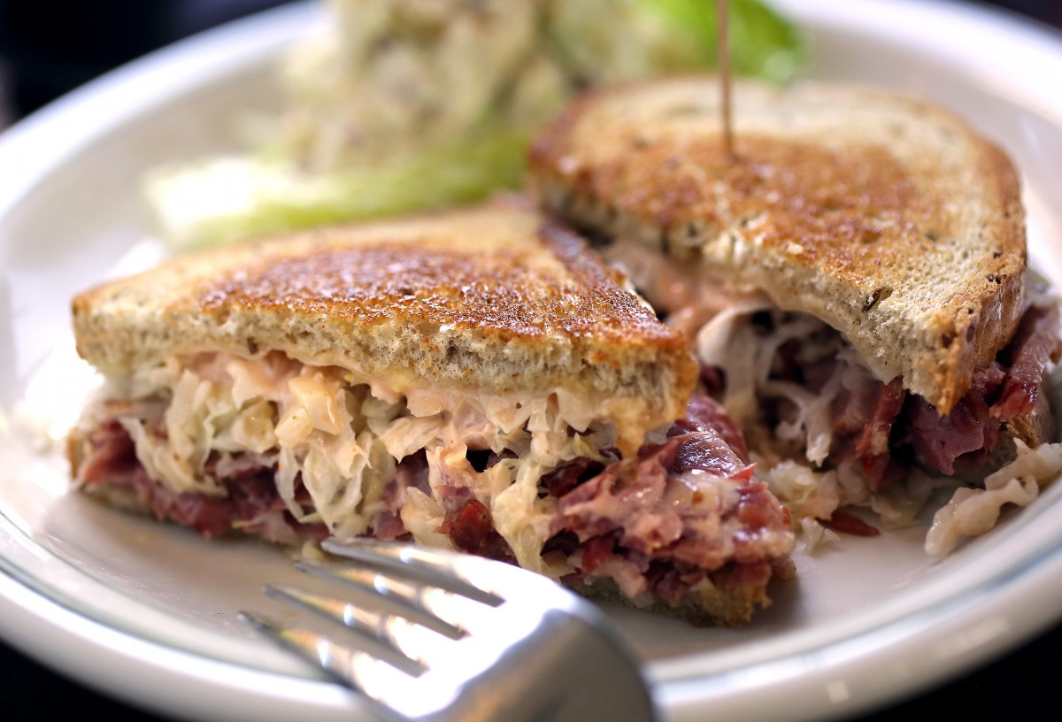 The Reuben sandwich from Ricardo's Restaurant and Bar in the Annadel Shopping Center in Santa Rosa. Ricardo's