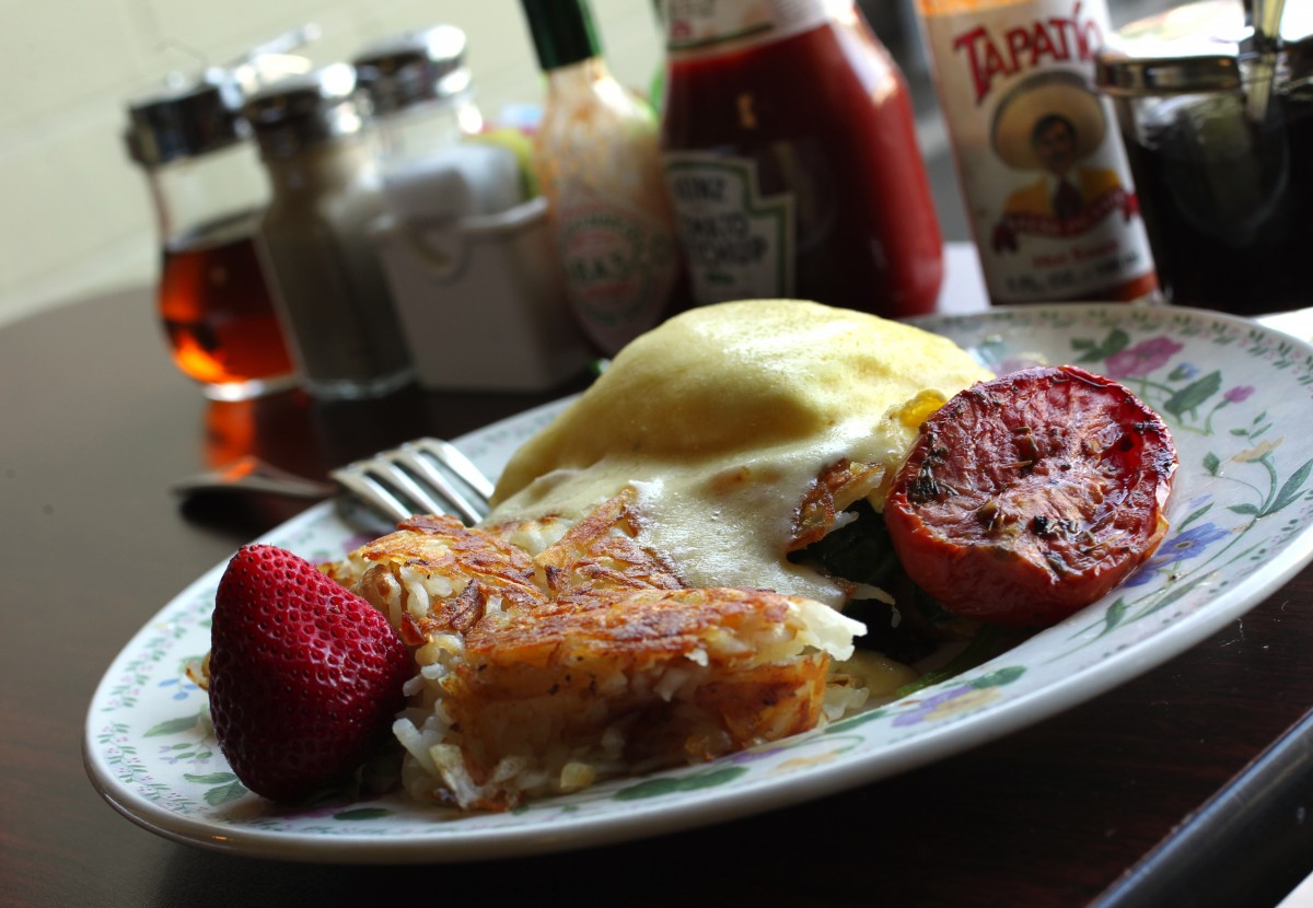 The Eggs Benedict at Dierk's Parkside Cafe have been awarded the Press Democrat's Best Breakfast in the Best of Sonoma County competition. (John Burgess)