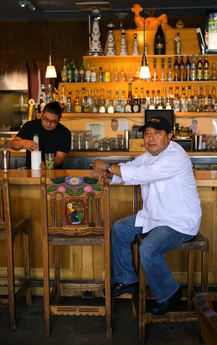 Chef/owner Manuel Arjona runs the kitchen while his son Heir, left, handles the front of the room and the bar at Maya Restaurant on the square in Sonoma. (JOHN BURGESS/The Press Democrat)