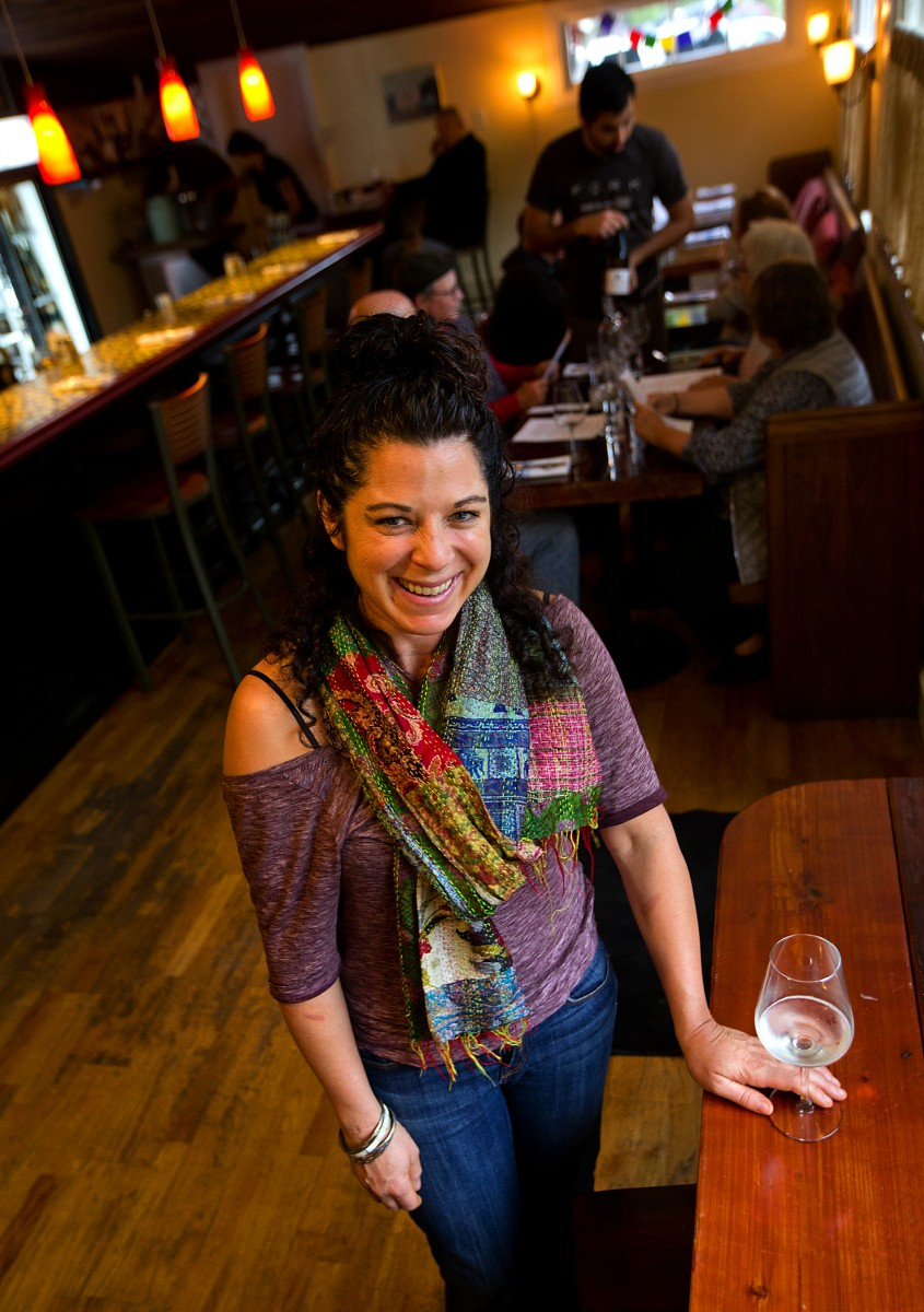 Owner/chef Sarah Piccolo at the Fork Roadhouse on Bodega Ave. east of Sebastopol. (JOHN BURGESS/The Press Democrat)