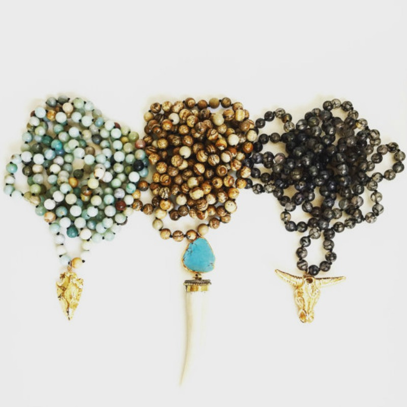 Long beaded necklaces from Meghan Bo Designs in sonoma
