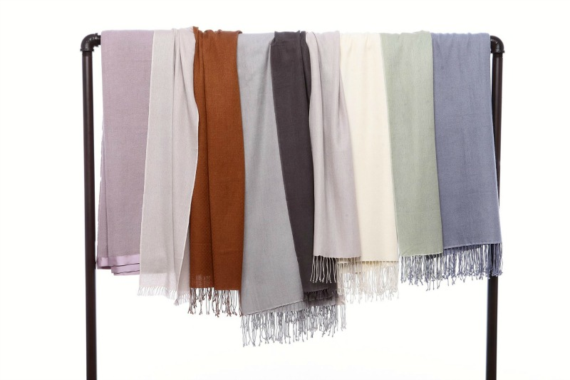 Pashm shawls from Petaluma for fall