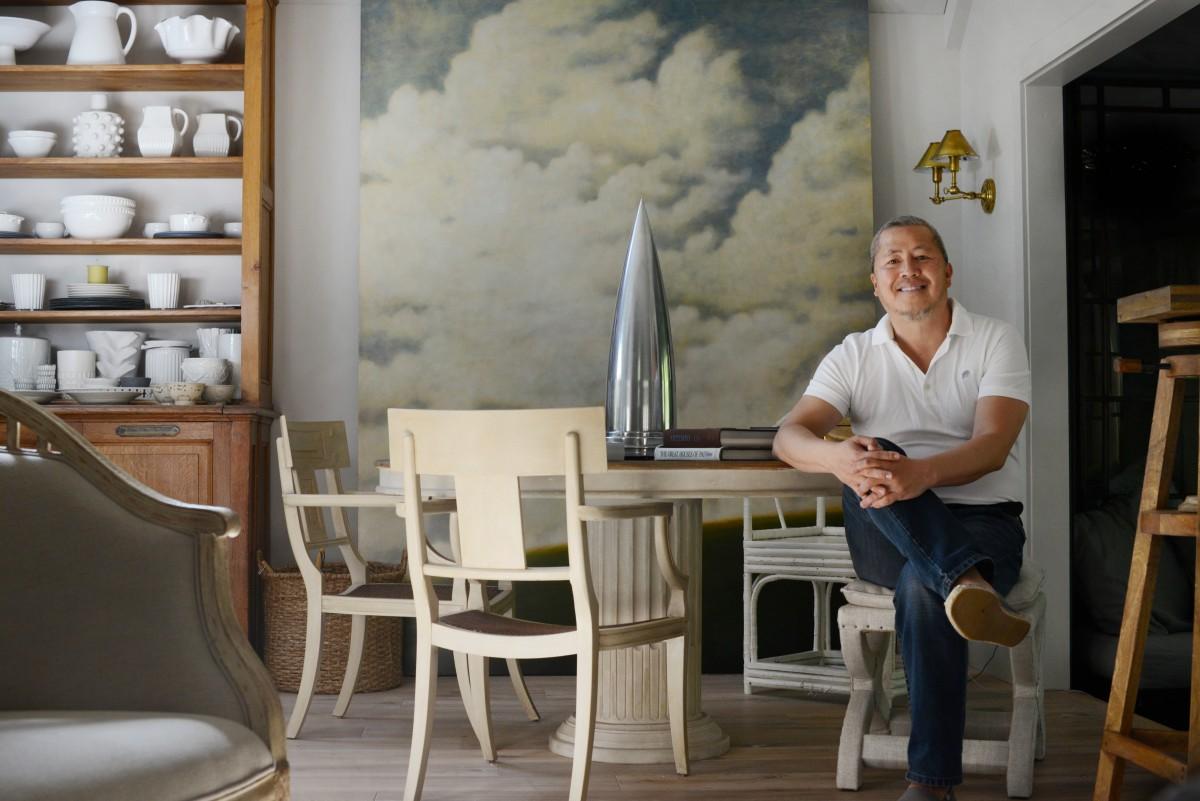 Benjamin Dhong an interior designer at his recently redesigned home in Healdsburg. April 16, 2016.