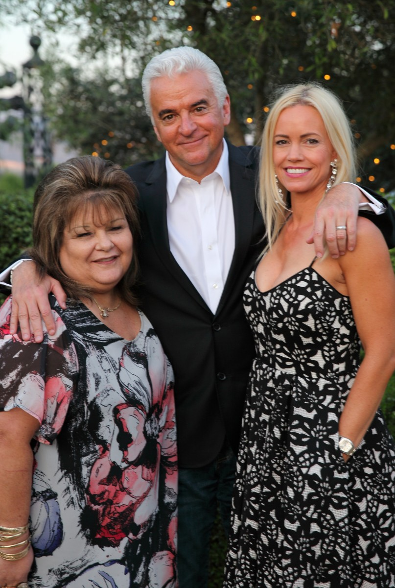 Chairwoman Margie Mejia of the Lytton Rancheria Band of Pomo Indians, left, with 2016 Schulz Celebrity Golf Classic host John O'Hurley and his wife, Lisa. The Lytton tribe was the fundraiser's grand sponsor. MUST CREDIT: Photo by Justin Warmack