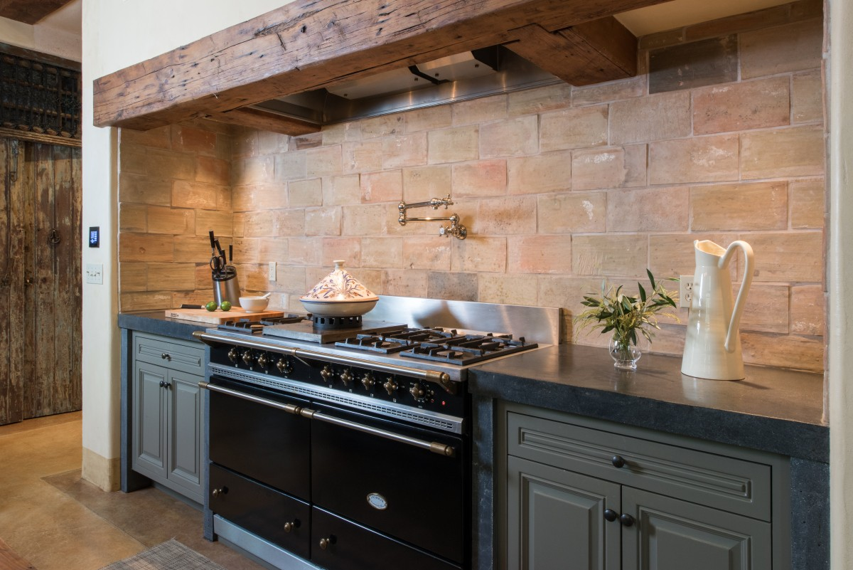 Kitchen with Ethopian marble counters.