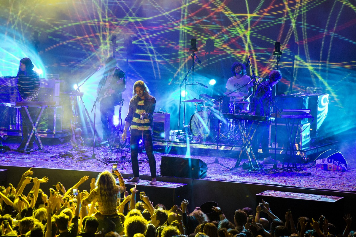 Tame Impala frontman Kevin Parker on stage at the Greek Theatre in Berkeley, Saturday, September 3, 2016.
