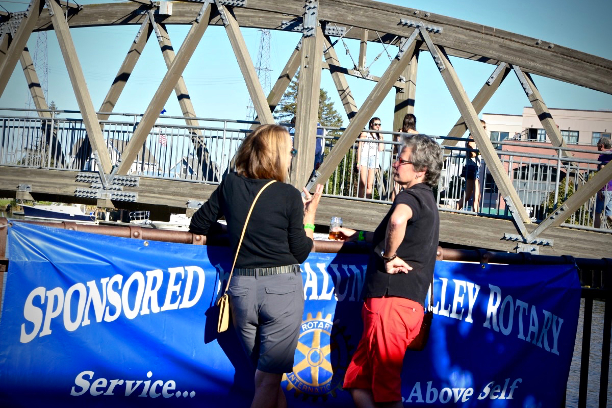 Enjoying the view of the river at Petaluma River Craft Beer Festival. (Photo by Tim Vallery)