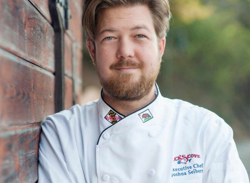 Chef Joshua Seibert of Nick's Cove