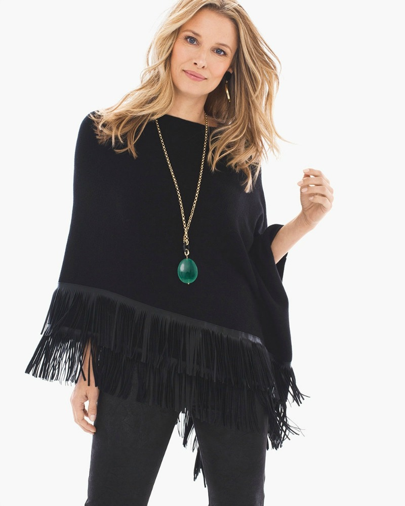 fringe poncho from chicos in montgomery village