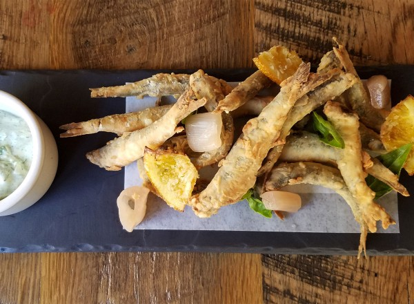 Fried anchovies at Revival. Heather Irwin/PD