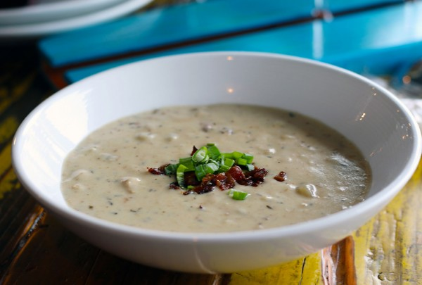 Clam chowder from Gourmet Au Bay in Bodega Bay. Heather Irwin/PD