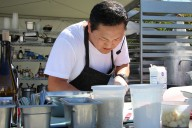 Chef Sang Yoon at the Kendall Jackson 20th Annual Heirloom Tomato Festival