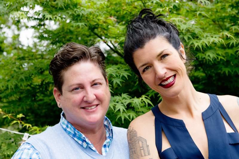 Hip Chick Farms owners Jen Johnson and Serafina Palandech. (Courtesy Photo)