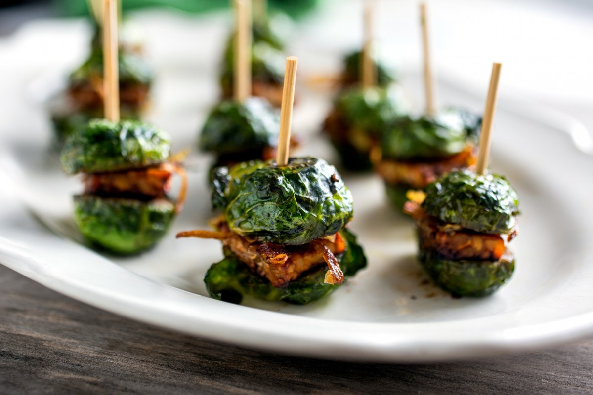 Brussels sprouts sliders.