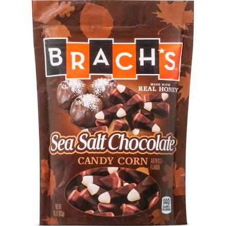 Brach's Sea Salt and Chocolate Flavor candy corn for Halloween 2016