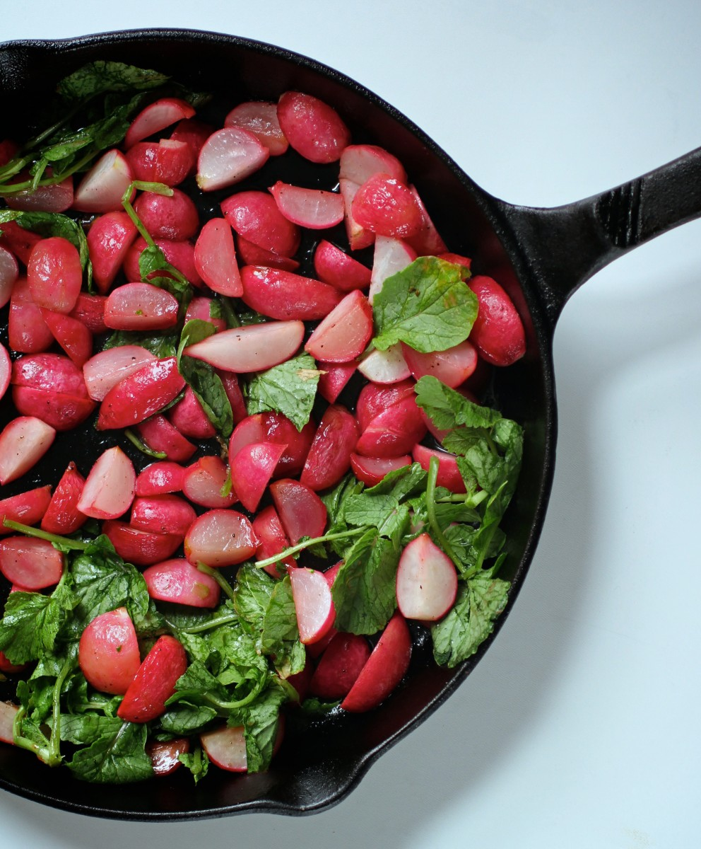 Honey roasted radish.