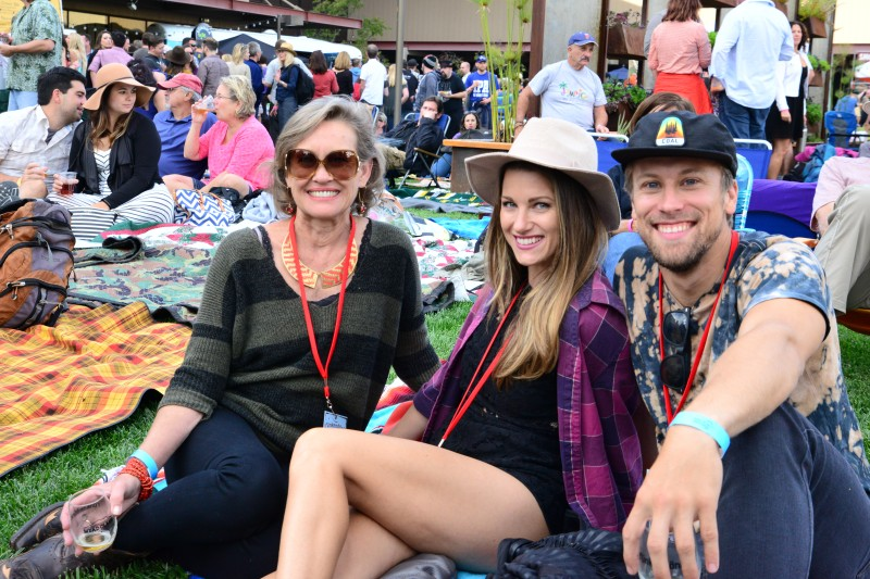 People relaxing at Sonoma County's Funkendank Oktoberfest. (Photo by Tim Vallery)