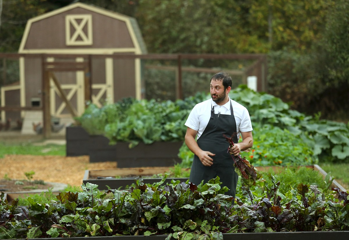 Chef Ben Spiegel creates the menu at Revival at the Applewood Inn and uses seasonal produce from the farm out back. (Photo by John Burgess)