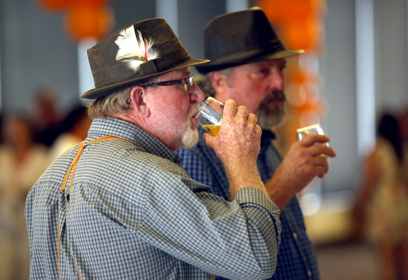 Over 20 craft breweries poured their best for the patrons at the FunkenDank music and beer festival at Sonoma Mountain Village Event Center in Rohnert Park on Saturday, October 22, 2016. (John Burgess/The Press Democrat)