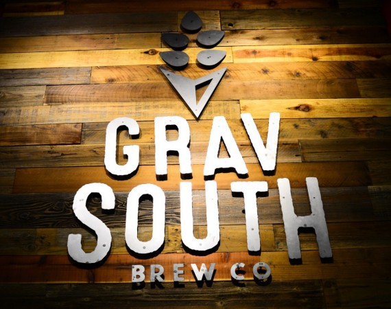 The sign at the entrance to the taproom at Grav South Brew Co. (Photo by Tim Vallery)