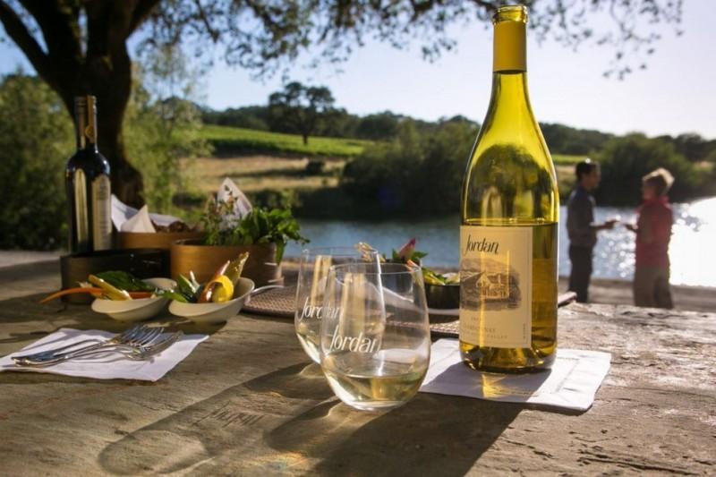 Chardonnay from Jordan Winery. (Image courtesy of Jordan Winery)