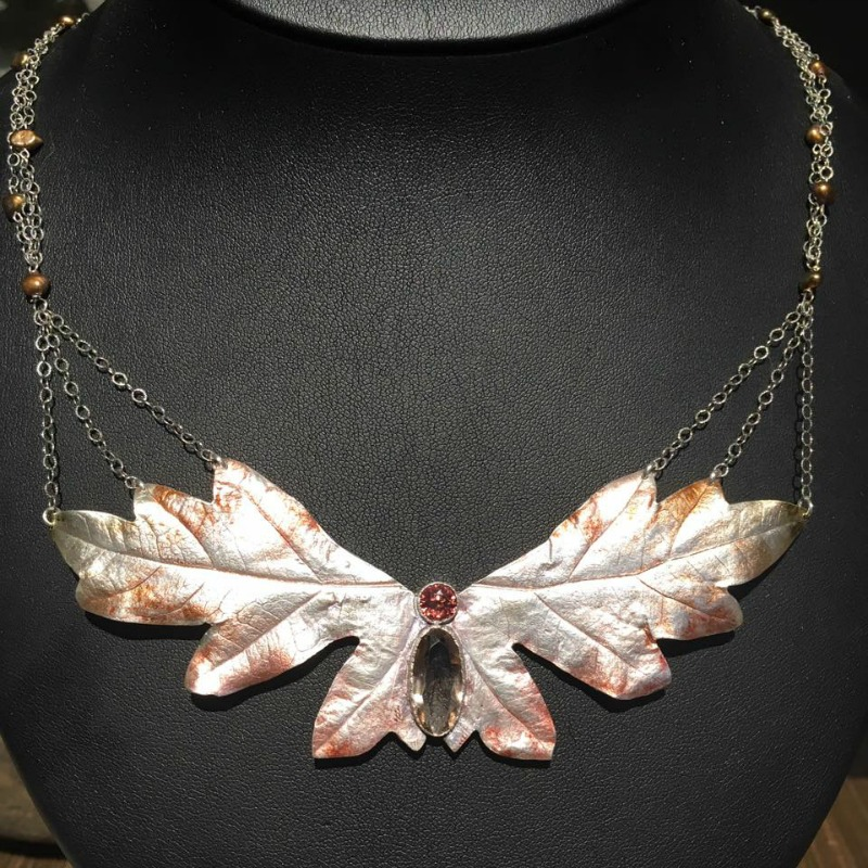 Michelle Hoting moth necklace