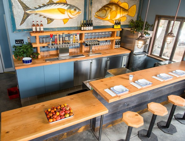 Interior view of Handline Restaurant in Sebastopol. Photo: Dawn Heumann
