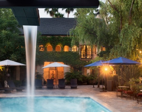 The pool at the Kenwood Inn and Spa.
