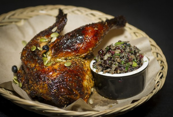 Chicken and wild rice at Virginia Dare Winery's Werowocomoco. Courtesy photo