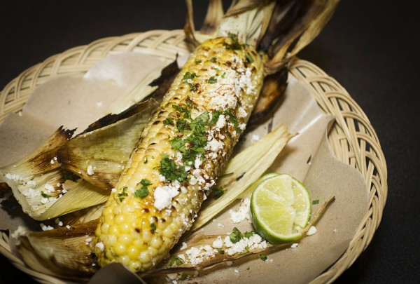 Charred corn and lime at Virginia Dare Winery's Werowocomoco. Courtesy photo