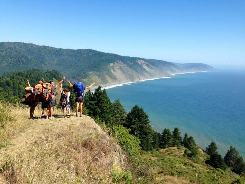 Backpackers willing to make the difficult trek to the Lost Coast region are rewarded with spectacular views of California's coastline. (Melanie Nacouzi/Flickr)