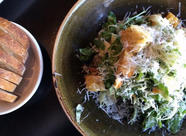 Caesar salad at Oso Restaurant in Sonoma. Heather Irwin/PD