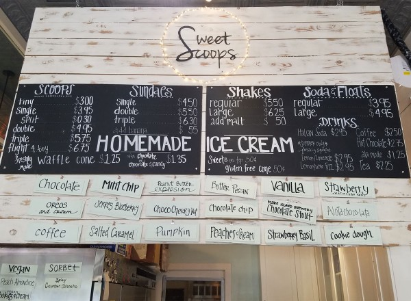 You can't go wrong with just about any flavor at Sweet Scoops in Sonoma. Heather Irwin