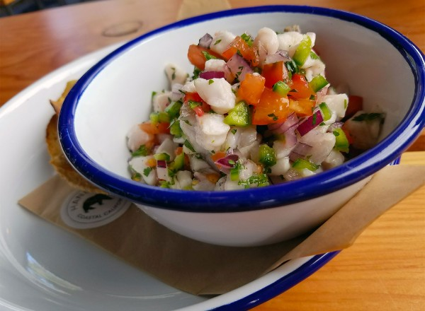 Ceviche at Handline Restaurant in Sebastopol. Heather Irwin/PD