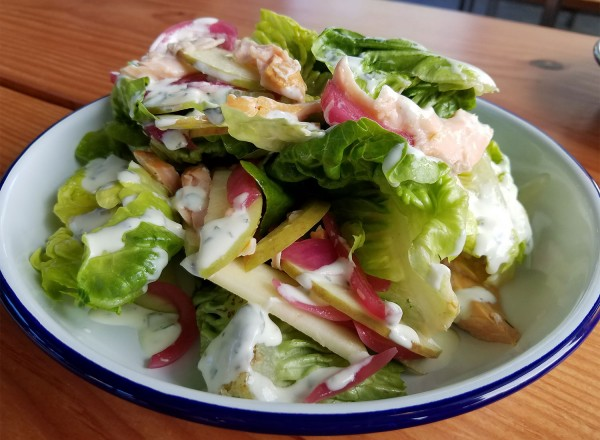 Smoked trout salad at Handline Restaurant in Sebastopol. Heather Irwin/PD
