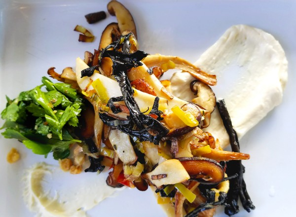 Wild mushrooms with St. Jorge cheese at Handline in Sebastopol. Heather Irwin/PD