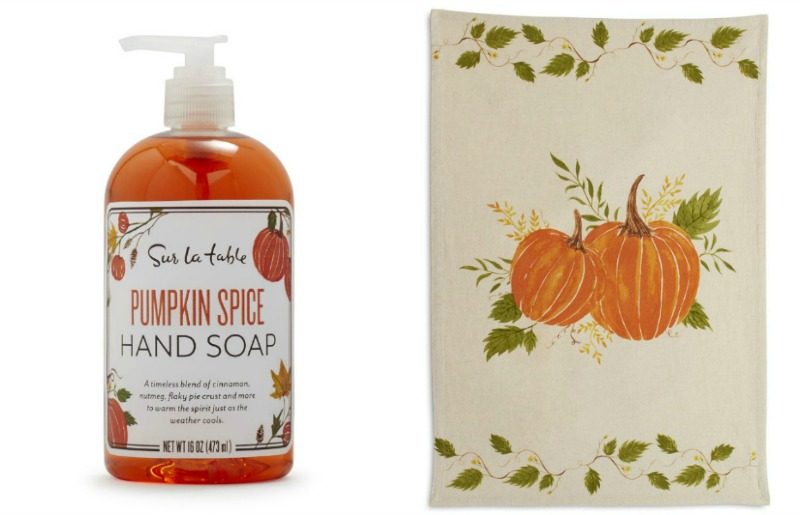 pumpkin soap and towels