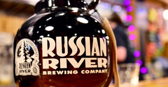 Russian River Brewing Company growlers. (Photo by Tim Vallery)