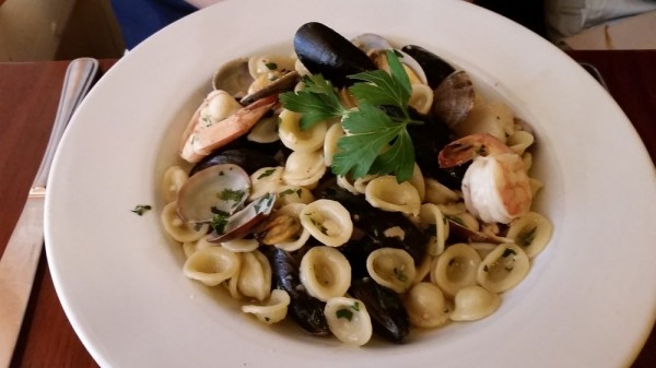 Seafood pasta at Mama Tanino's in Sonoma. Courtesy Yelp.