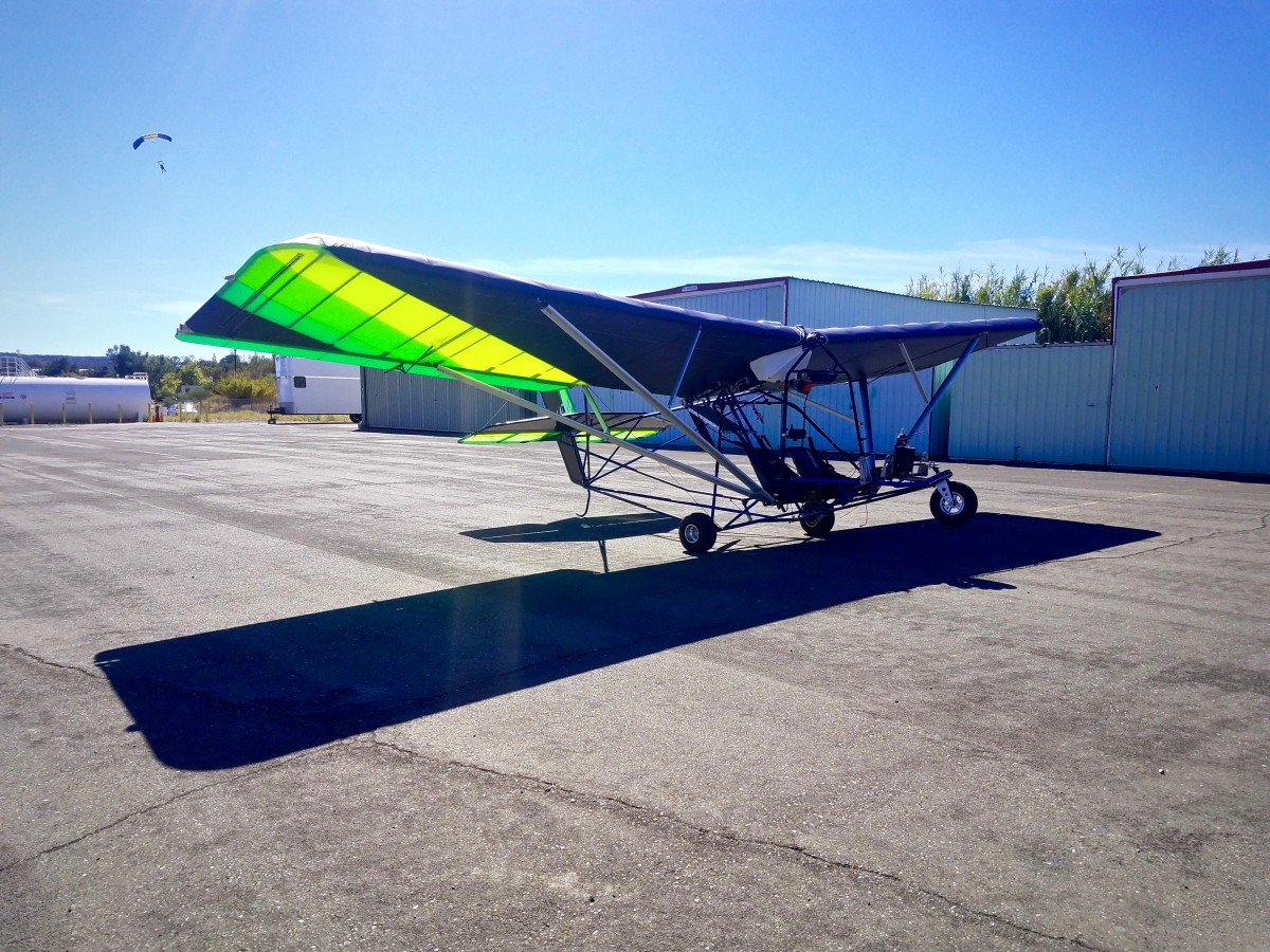 Light Sport Plane at Shipway Aviation Hangar 10 at the Cloverdale Municipal Airport. (Photo by Chelsea Kurnick)