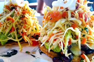 Veggie tostada at Handline in Sebastopol. Heather Irwin/PD