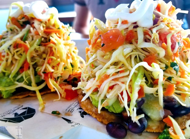Veggie tostada at Handline in Sebastopol. Heather Irwin/PD