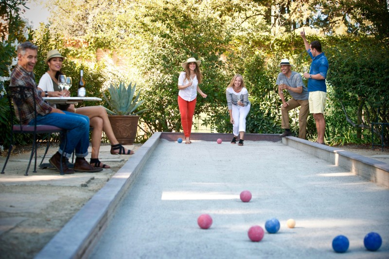 Bocce court at Vintners Inn. (Photo courtesy of Vintners Inn)