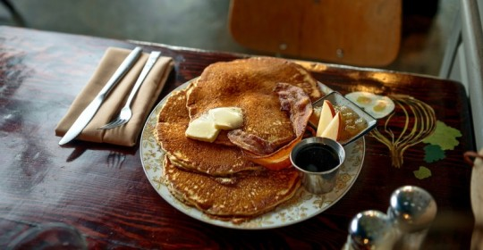 This weekend, you can have pancakes and support a good cause at Windsor High Boosters and Windsor VFW fundraising Pancake Breakfast. (The pancakes in the picture are served at Wishbone in Petaluma)