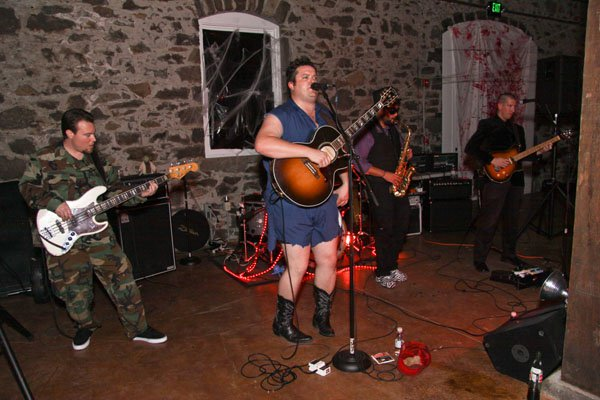 Pat Jordan Band playing at the Trione Halloween event. (Photo by Tim Vallery)