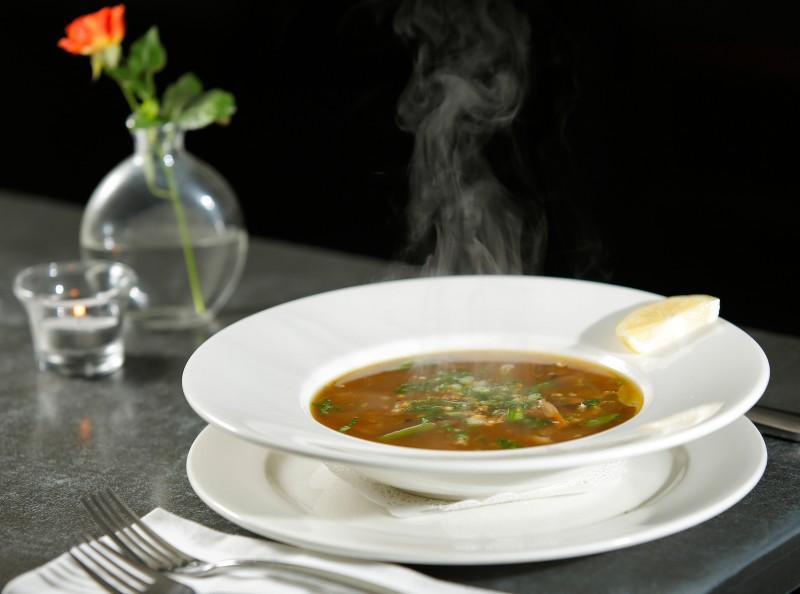 Roasted duck soup, at Calistoga Kitchen in Calistoga, California on Friday, November 11, 2016. (Alvin Jornada / The Press Democrat)