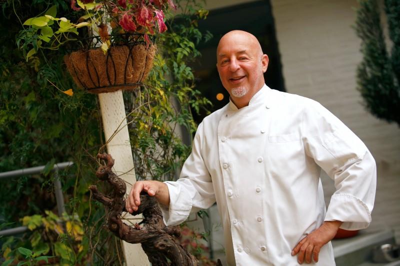 Chef-owner Rick Warkel of Calistoga Kitchen, in Calistoga, California on Friday, November 11, 2016. (Alvin Jornada