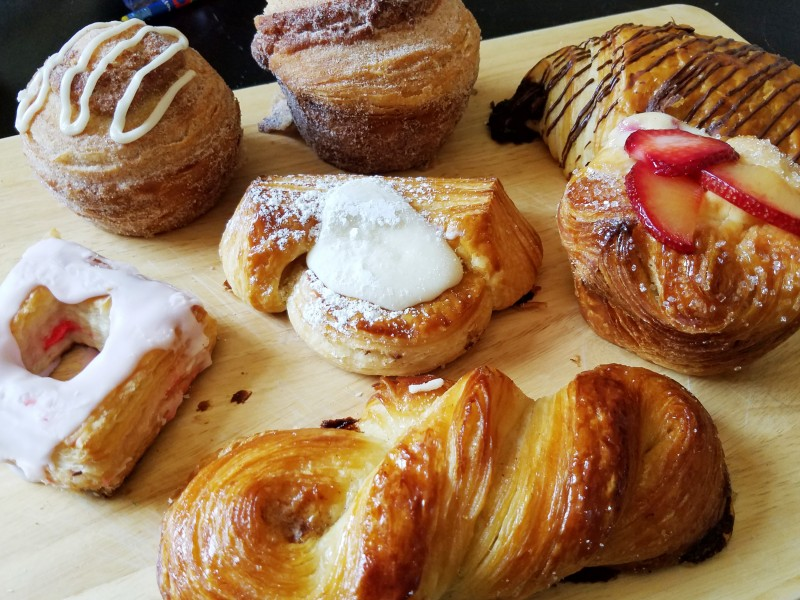 Cronuts, morning bun, croissants, and other pastries from Bright Bear Bakery in Petaluma. Heather Irwin/PD