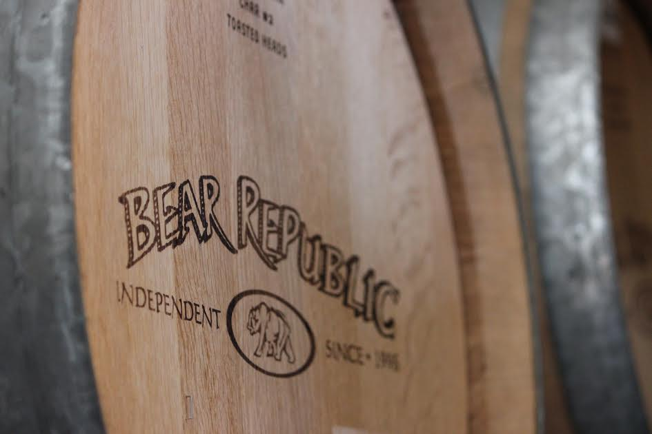 The barrels for the wild club beers. (Photo Courtesy of Bear Republic Brewing Company)
